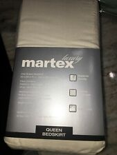 New martex Queen size bedskirt . inverted pleat . ivory bed skirt packaged