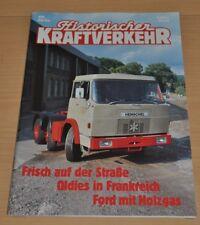 Historischer Kraftverkehr HIK 4/94 Henschel Holzgas-Ford Büssing Faun Lasar VW