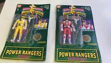 (2) BANDAI POWER RANGERS TRINI YELLOW RANGER KIMBERELY PINK RANGER MOCS