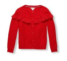 Tommy Hilfiger Kids Toddler Girls Ruffle Knit Cardigan Alpaca Blend Red  Size 2
