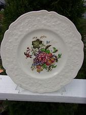 Vintage Johnson Bros. England Pareek Floral Plate With Embossed Floral Rim