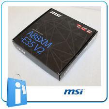 Plaque base mATX A88X MSI A88XM-E35 V2 Douille FM2 avec Accessoires