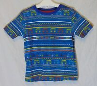 Boys George Blue Camper Van Camp Tent Holiday Dude Tee T-Shirt Age 3-4 Years