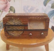 Radio Volksempfänger Zubehör Deko Accessoire  Puppenstube antik Holz