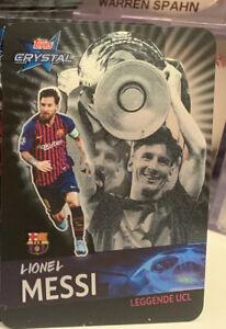 Topps 2018/19 Crystal UEFA LEGGENDE Legend UCL Champions Barca Lionel Messi #122