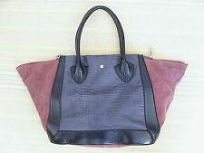 Pour La Victoire Large Women's Shoulder Bag Gray Black Dusty Rose