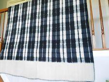 Vintage 1970's Peru Alpaca Wool Twin Size Reversible Blanket 60 x 79