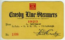 CROSBY LINE Steamers Pass - 1923 - Great Lakes