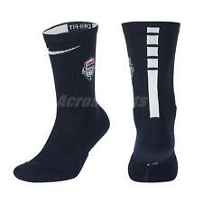 Nike Elite USAB Crew Basketball Socks Hoops Dri-FIT Cushioning Navy SK0198-451