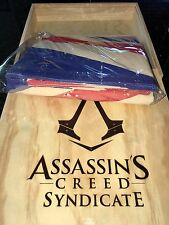 RARE! Assassins Creed WOODEN BOX UNION JACK FLAG BRITISH RED COAT SYNDICATE III