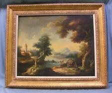 Antique Oil/Canvas Painting Landscape Signed D. Bussoni L/Right