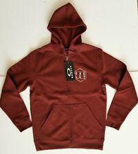 OAKLEY Mens Hexa-Gone Super-Soft Fleece Full-Zip Sweatshirt RED Hoodie XX-LARGE