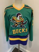 Vintage Mighty Ducks Movie Sewn Hockey Jersey Greg Goldberg Mens Large Excellent
