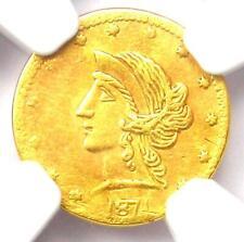 1871 Liberty California Gold Half Dollar 50C BG-1046 R7 - NGC AU Det - Rarity-7!