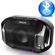Philips ShoqBox Wireless Portable Speaker Bluetooth SB300B/00 Waterproof Black