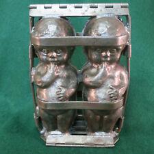 Antique Anton Reiche Hinged Chocolate Baby Dolls Marked TC Weygandt