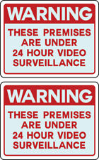 Qty 2 Warning Signs 24 Hour Video Surveillance Security Camera Retail Store