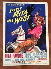 manifesto, 2F Little Rita nel West ,PAVONE,TERENCE HILL,TEDDY RENO BALDI,1967