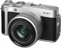 FUJIFILM Mirror Less Single Lens Camera X-A7 Lens Kit Silver EMS w/ Tracking NEW
