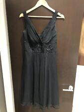 9cecdb47b8c Monsoon Silk Party Dress Beaded size 10 Black Worn Once