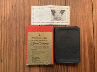 Vintage 1946 Zondervan Pocket Bible New Testament Psalms Black Leatherlux w Box