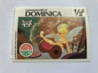 VINTAGE STAMP💎1980💎1 1/2 cent Disney Dominica Peter Pan (Tinkerbell) #A98💎