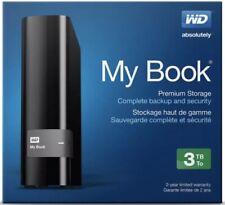 Western Digital My Book 3TB WDBFJK0030HBK-NESN External Hard Drive Black