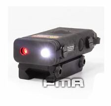 AIRSOFT PEQ10 RED LASER LIGHT LED TORCH FLASHLIGHT RIS 20mm RAIL BLACK UK