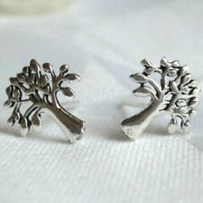Tree of Life 925 Silver Stud Studs Earrings Pair Shaman Pagan Reiki Spirituality