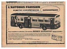 1965 DOCUMENT (ref Lip 320R) PUB  :  JOUET AUTOBUS PARISIEN DINKY  1/2page