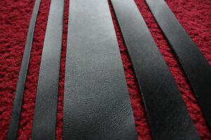 "80"" 200 cm long BLACK LEATHER STRAP BELT BLANK STRIP various width  2.5 mm thick"