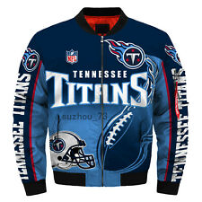 Tennessee Titans Jacket MA1 Flight Bomber Thicken Coat Men's Football Outwear