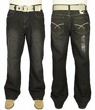 Herren Loose Fit Denim Jeans breit unten Relaxed Straight Fit Große Größen