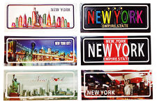 lot of 6 New York City Skyline Statue of Liberty NY Souvenir Gift Fridge Magnets