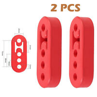 4Holes Red Car Exhaust Pipe Bracket Rubber Hanger Insulator Tail Pipe Support AU