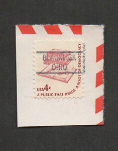 US #1585, Democracy stamp, on piece, with precancel Blacklick, Ohio.