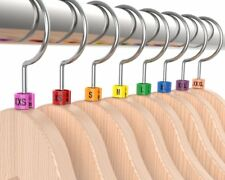 """Colored Hanger Sizer Garment Markers """"Xxs-5Xl""""Plastic Size Marker Tags All Sizes"""