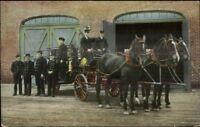 Bellingham WA Prospect St. Fire Dept c1910 Postcard