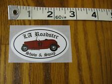 2017 L.A. Los Angeles LA Roadster headlite sticker decal Hot Rod Club SoCal