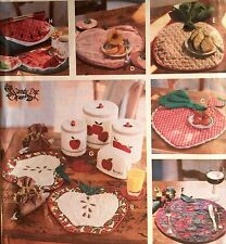 "1995 ""Semplicità"" CUCINA ACCESSORI Craft Sewing Pattern 9484"