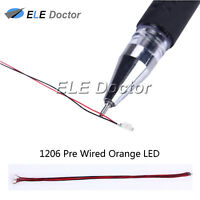 10pcs 1206 3216 Orange Light SMD Pre-Wired LED Diodes Soldered 20cm Length Lamp