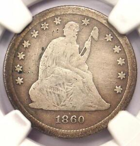 1860-S Seated Liberty Quarter 25C - Certified NGC VG Details - Rare Date Coin!