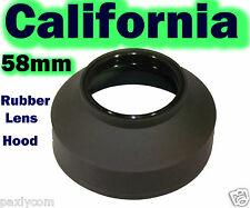 58mm 3 Stage  Rubber Lens Hood Canon Nikon Sony Sigma Pentax Olympus Panasonic