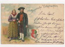 Bayerische Volkstrachten Schwaben & Neuburg 1900 Postcard Germany 245a