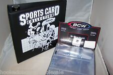 "1 BCW 3"" Black Sports Card Collector Album Binder Storage Book & 50 Pages"