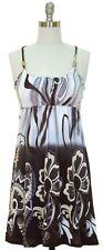 Beaded Tank Dress Racer Back SunDress BLUE PURPLE r GRAY BLACK Size S, M