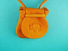 Buffalo Bison Flap Pouch Buckskin Pendant Necklace Medicine Bag 1001