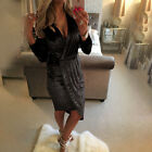 Vintage Womens Cocktail Party Banquet Crushed Shiny Velvet Mini Dress Bodycon