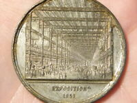 1851 International Exhibition Exposition Building London WM Medal #Q48