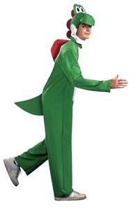 Adult Nintendo Super Mario Bros Yoshi Costume Dinosaur Fancy Dress Costume
